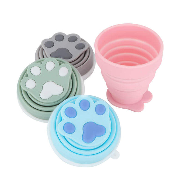 Cat Claw Collapsible Cup Creative Outdoor Portable Coffee Cup
