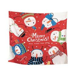 Custom Christmas Photo Tapestry Custom Wall Hanging