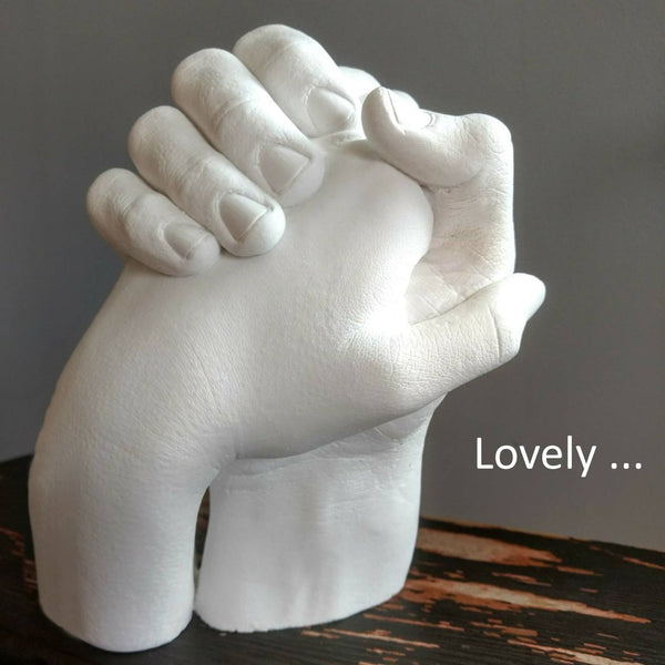 Keepsake Hands Plaster Statue Kit