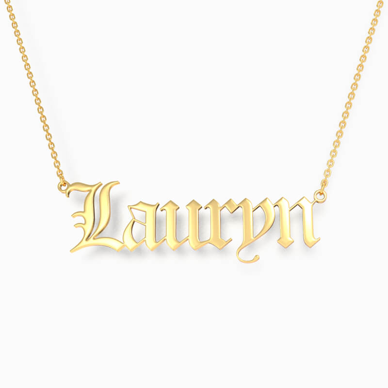 Custom Pendant White Gold Plated Name Necklace Gift Idea For Her KIRSTY