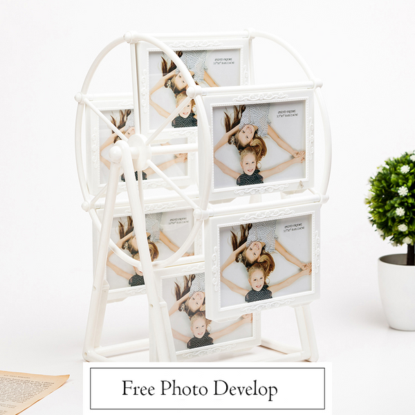Custom 5 inch Ferris Wheel Romantic Windmill Couple Wedding Photo Frame