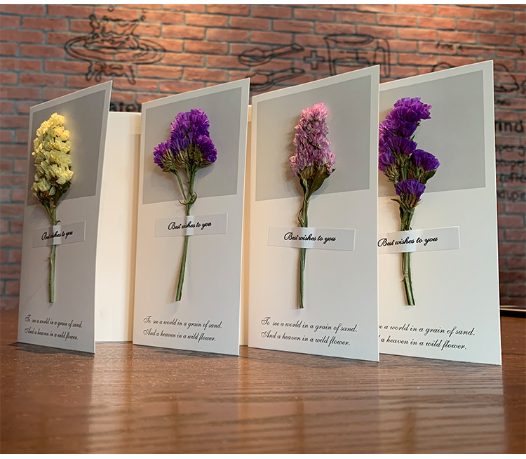Dried Flower Greeting Card -Mother's Day Special Offer