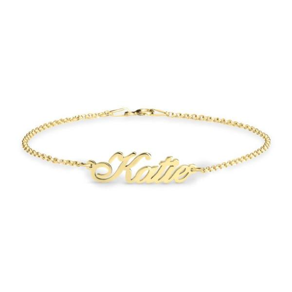 Personalized Classic Bracelet 24K Gold Plated - customgiftsmall