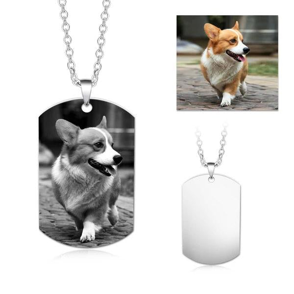 Personalized Engraved Pet Photo&Text Necklace