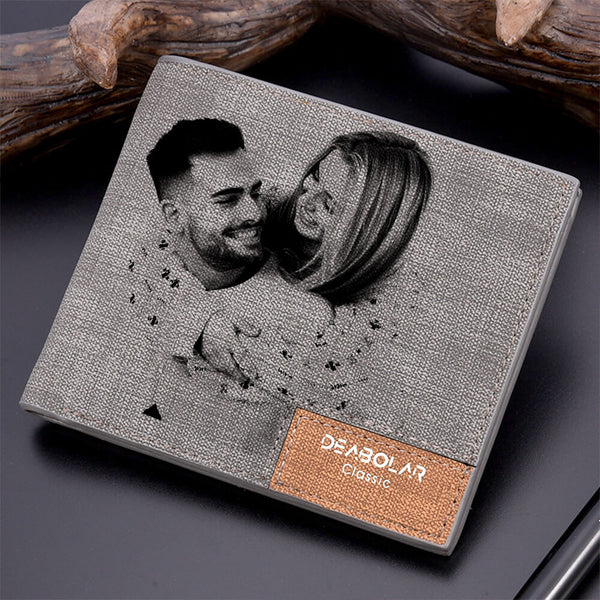 Personalized Photo Wallet Custom Photo Engraved Wallet Best Gift For Father - customgiftsmall