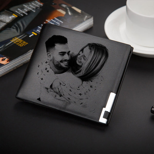 Personalized Photo Wallet PU Leather - customgiftsmall