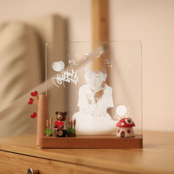 Personalized Acrylic Photo Frame Night Light