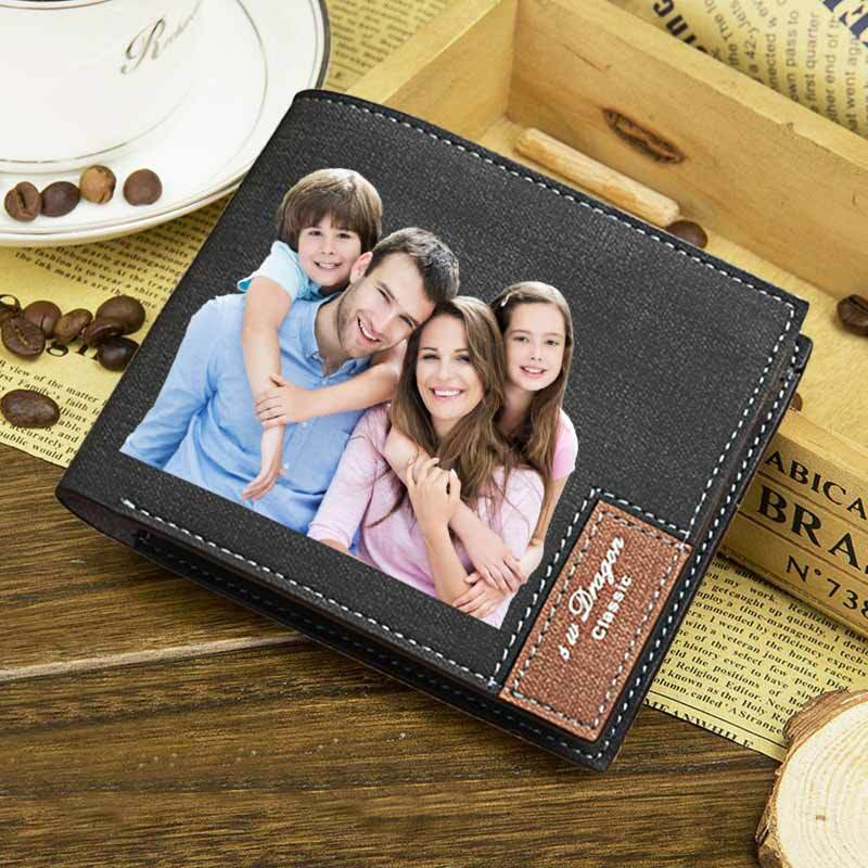 Custom Photo Wallet, Personalized Photo RFID Wallets for Men - customgiftsmall