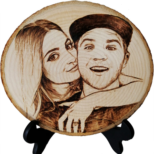 Personalized Photo Wood Burning Art Christmas Gifts
