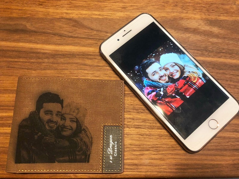 Personalized Photo Wallet Custom  Photo Engraved Wallet - customgiftsmall