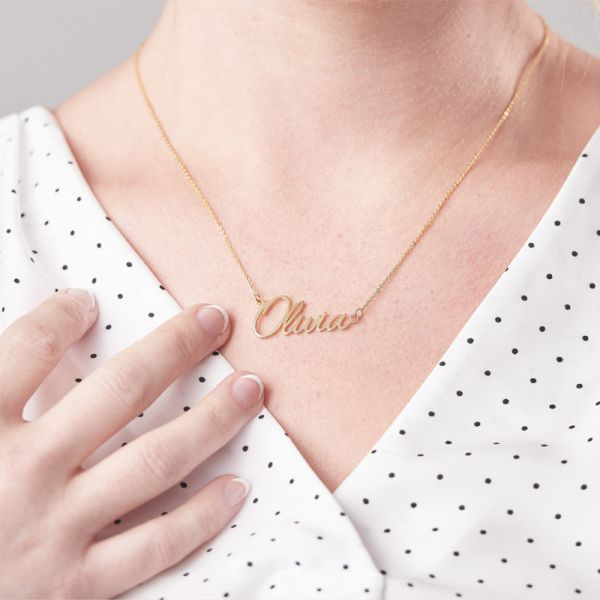 Custom Name Necklace Gold Plated Best Gifts For Mom - customgiftsmall
