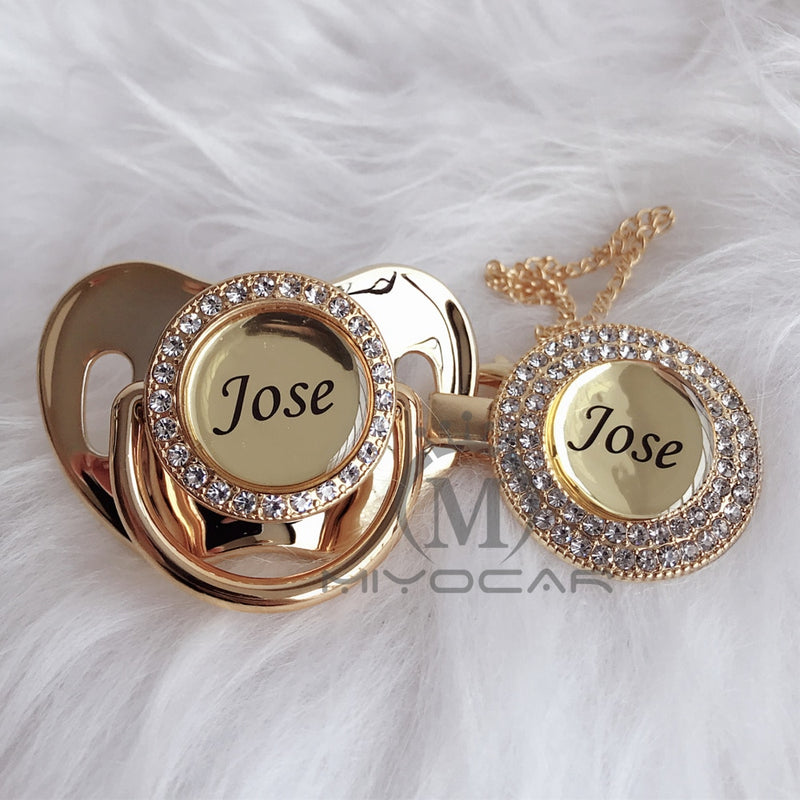 Personalized Gold Bling Pacifier