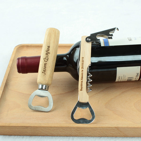 Custom Engraved Bottle Opener Corkscrew Knife Personalized Best Man Gift Groomsman Gift House Warming Gift Wedding Favor Gift