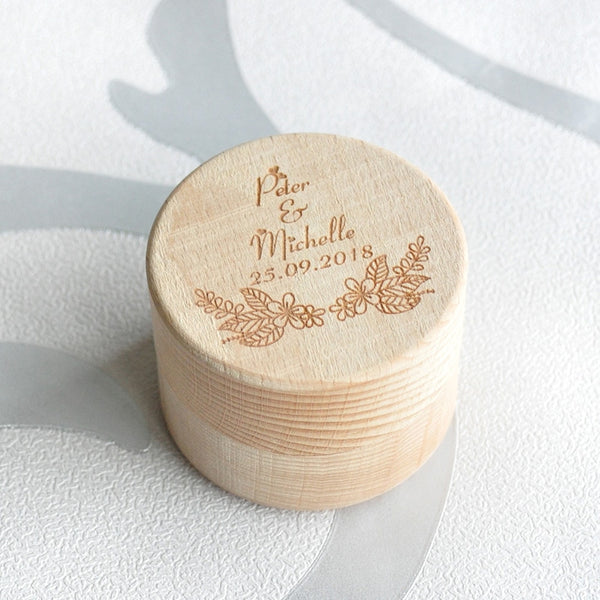 Personalized Wedding Ring Bearer Box Rustic Wedding Gift Engagement Ring Holder Box Wood Ring Box