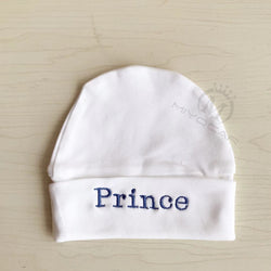 Personalised Hat for Baby Soft Organic Cotton