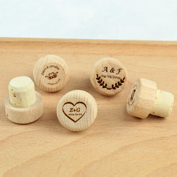 Personalized wedding Wine Stoppers Wedding Favors Cork Stoppers Engraved logo Wine Bottle Stoppers Keepsake Gift
