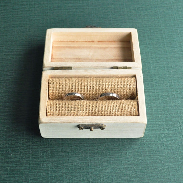 Wedding Ring Box Personalized Wedding Ring Bearer Holder Box, Peacock Feather Jewelry Box Wedding Gift