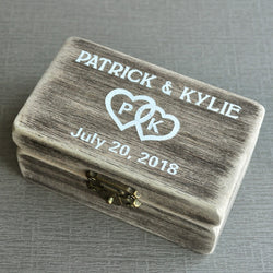 Wedding Ring Box Personalized Wedding Ring Bearer Box, Vintage Wedding Gift Bridal Shower Gift