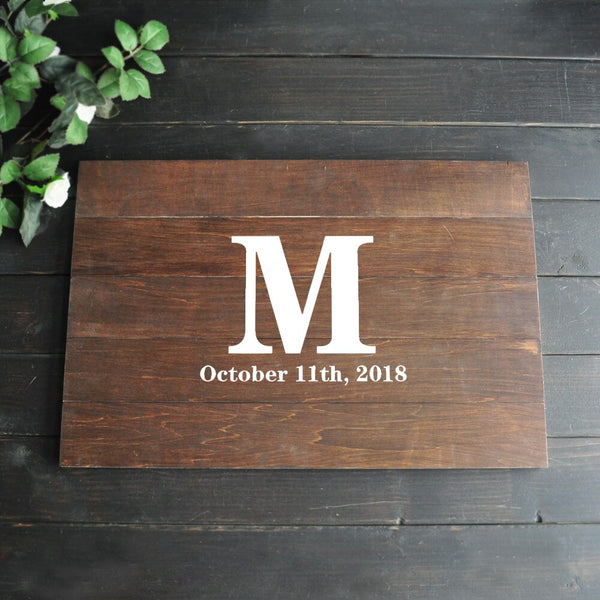 Rustic Wedding Guest Book Alternative Custom GuestBook Real Wood Wedding Sign Personalized Wedding Guestbook
