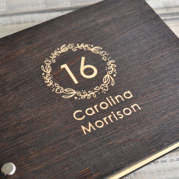 Personalized Sweet 16 Guestbook, Birthday Guest Book Sixteen Guest Book Birthday Album Party Guestbook Birthday Gift