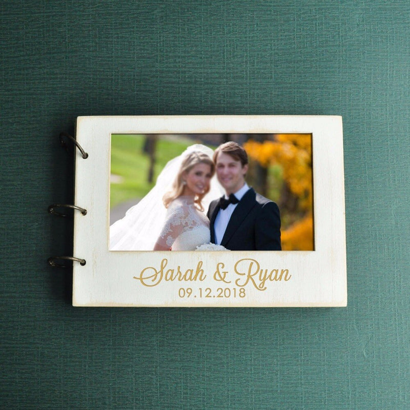 Wedding Guest Book Personalized Wedding Photo Book, Custom Wedding Guestbook Your Photo On Cover Bridal Shower Gift