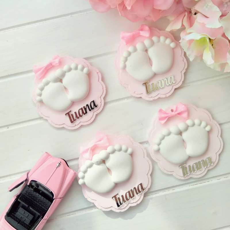 Custom Made Silver Acrylic Mirror Tags, Personalized Acrylic Tags for Baby Shower Favors, Laser Cut Chocolate Lettering Tags