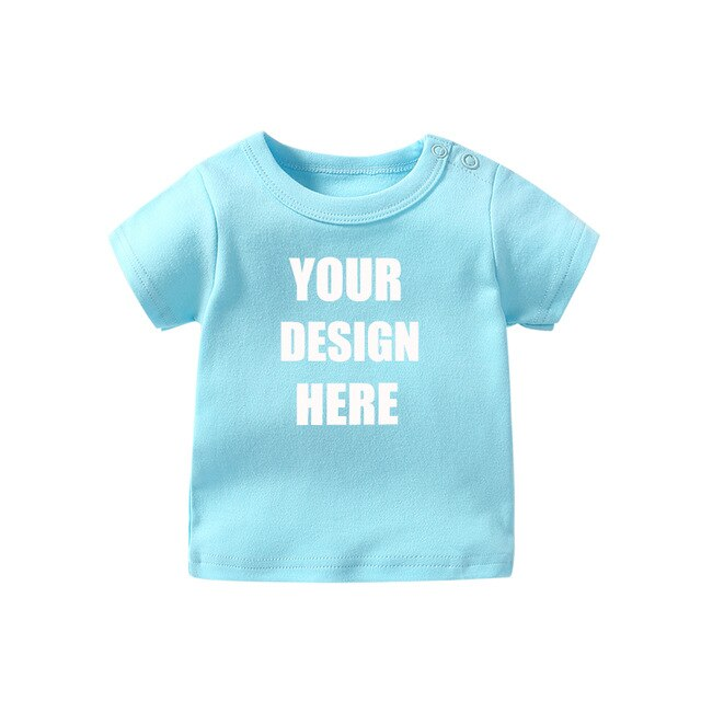Personalized customization baby Bodysuits cute fun T-shirt  baby girl Clothing New born baby clothes Baby Boy outfit