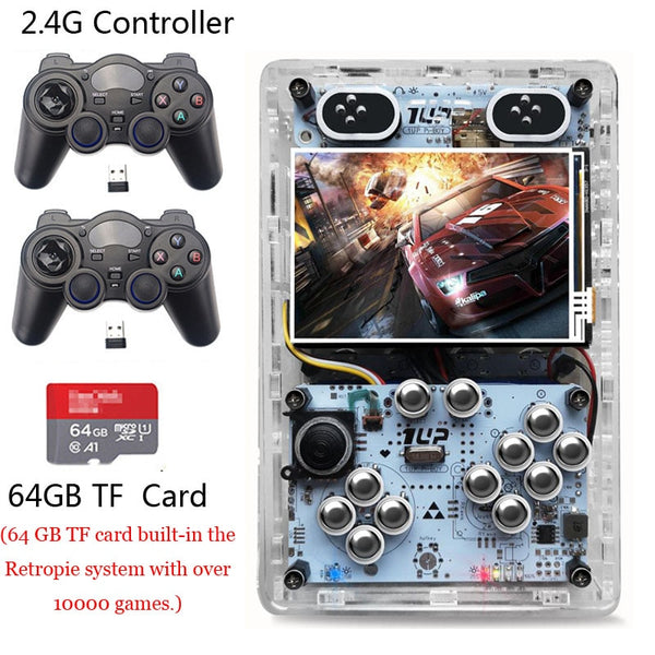 Screen Video Game Consoles HDMI Output Raspberry Pi 3 B+ Handheld Retro Game Player Pi- Boy Built-in 10000 games