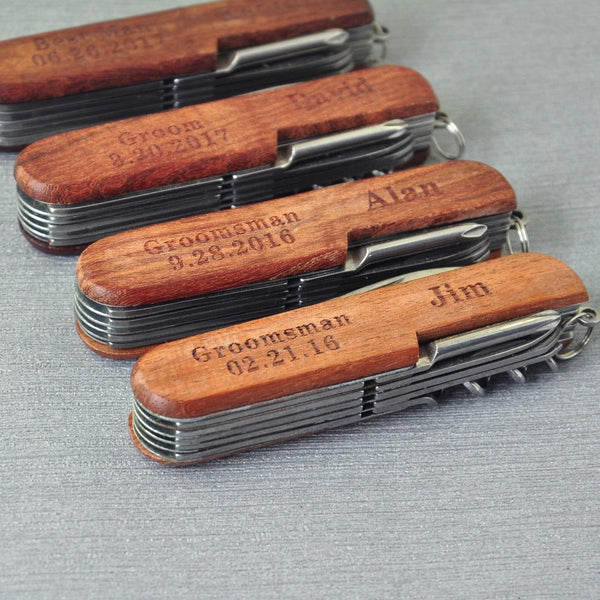 Custom Multi function folding knife, Personalized Pocket Knife, Best Man Groomsman Gift Custom Wedding Favor Gift