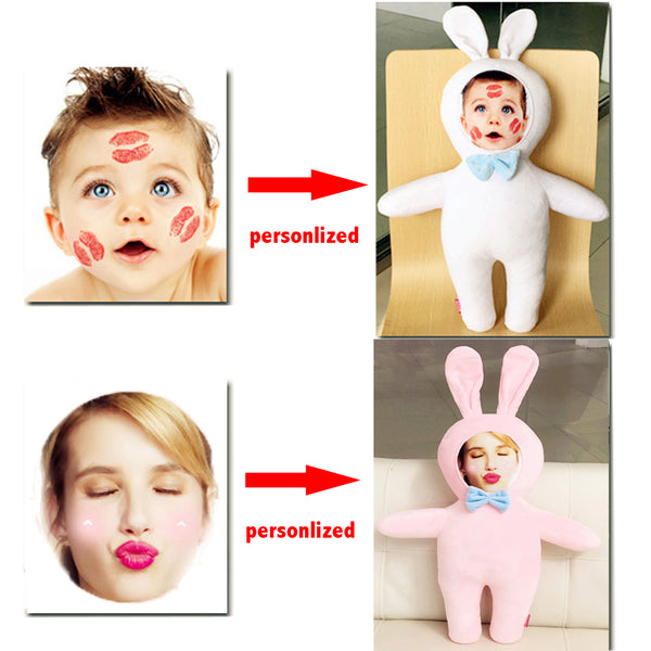 Face On Plush Toy Personalized Stuffed Toy Doll Best Customized Gift For Lover Girl Friend Kids Children