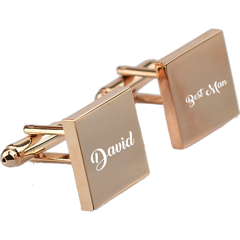 Personalized Cufflinks Laser Engraved Name Record
