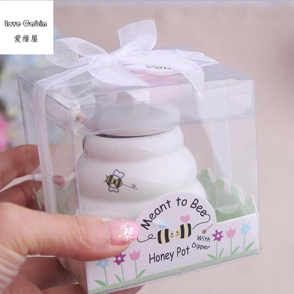 Meant to Bee Ceramic Honey Pot  10pcs/Lot wedding bridal shower favor gifts favor de la boda