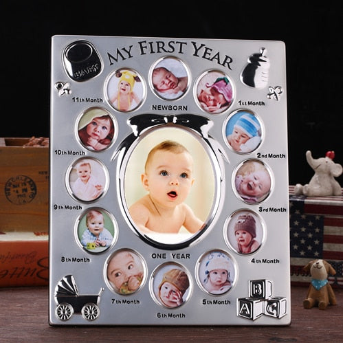 Customized My First Year Baby Gift Photo Frame