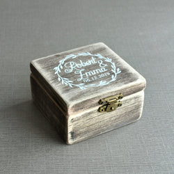 Ring Box Wood Ring Bearer Box, Personalized Wedding Ring Box Custom Wedding Gift Bridal Shower Gift Anniversary Gift