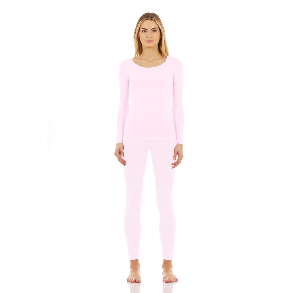 Thermajane Women's Ultra Soft Thermal Scoop Neck Set