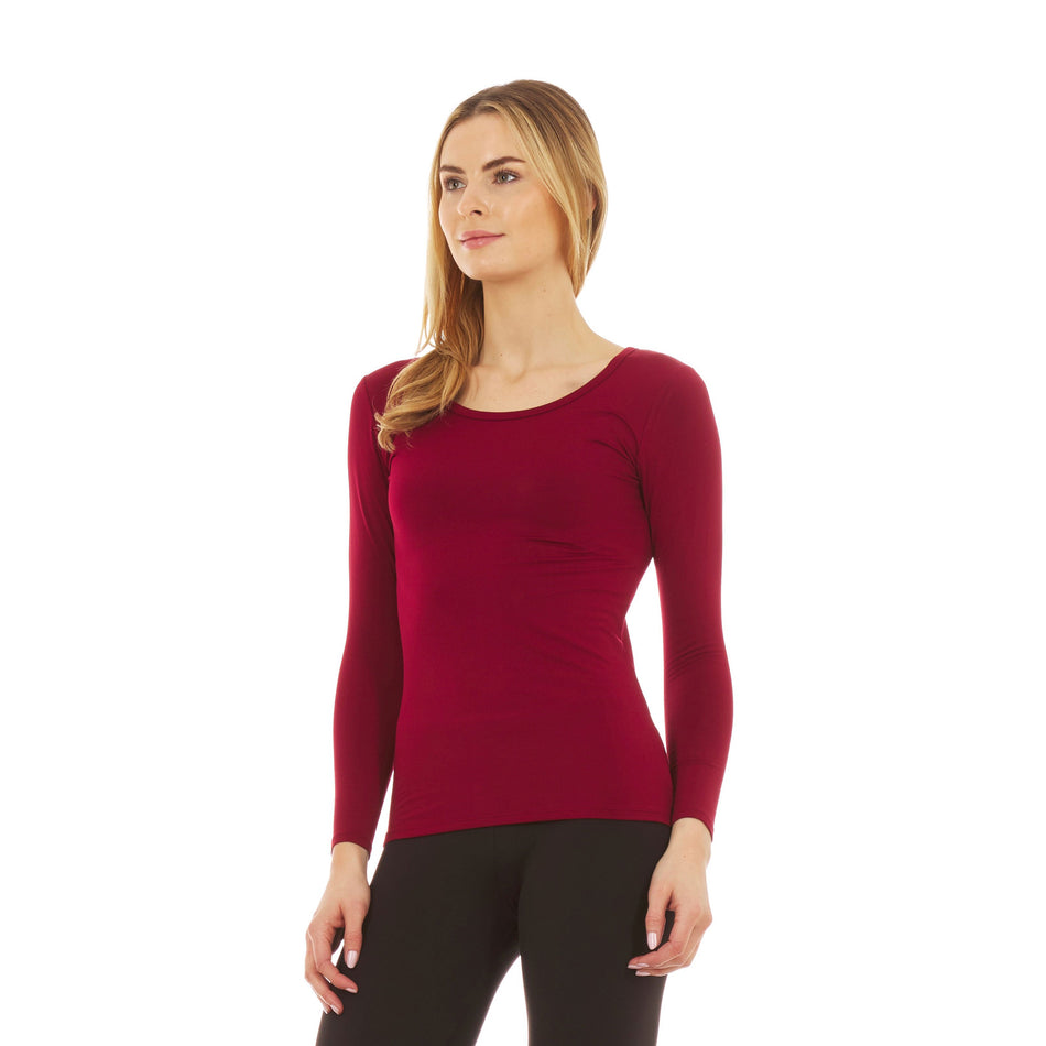 Women's Ultra Soft Thermal Scoop Neck  Shirt
