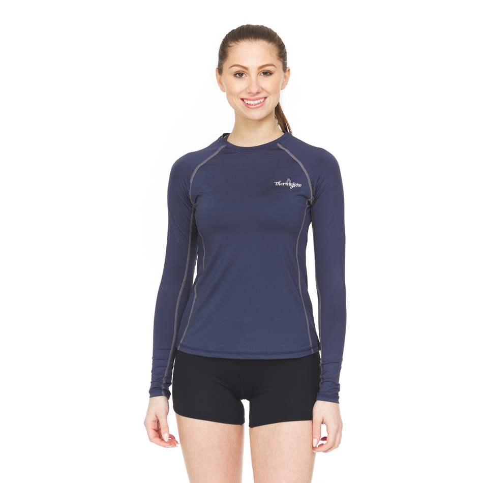 Thermajane Women's Athletic Compression Shirt - Long Sleeve