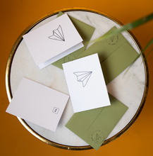 Load image into Gallery viewer, Paper Plane Notecard Fleet
