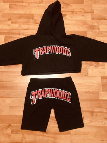 Trapwoodz Girl Crop Top Set (Original)