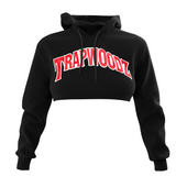 Trapwoodz Original Black Crop-Top Hoodie
