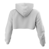 Trapwoodz Original White Crop Top Hoodie