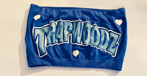 Trapwoodz Valentines Blue Tube Top