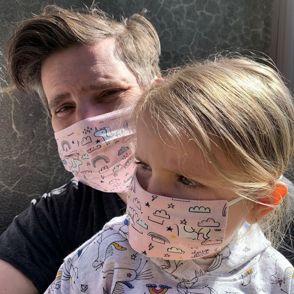 MASQUE ALTERNATIF NON MEDICAL POUR ENFANT ET ADULTE -Licornes