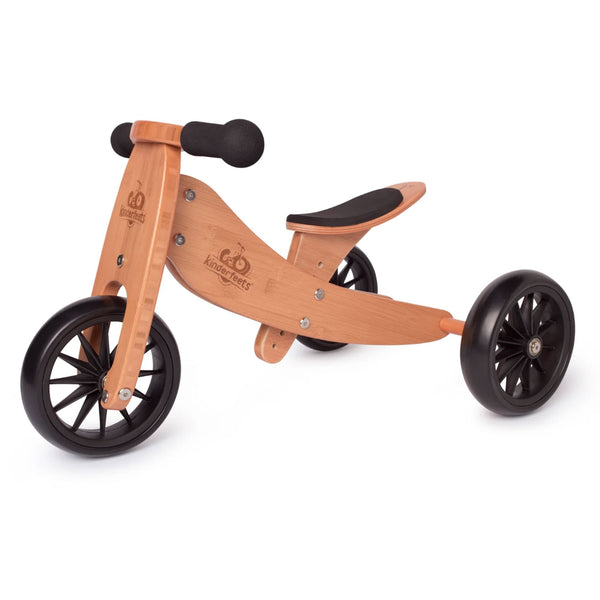 2-EN-1 TINY TOT Tricycle & Vélo d'équilibre BAMBOO