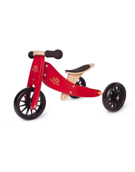 2-EN-1 TINY TOT Tricycle & Vélo d'équilibre - Rouge