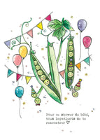 Carte avec illustration à l'aquarelle - Petit pois_5
