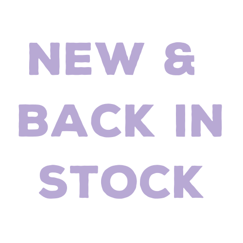 New & Back in Stock