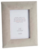"Dove Grey Velvet Frame 7"" x 5"" Holder"