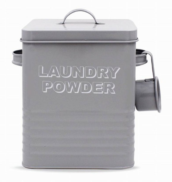 Grey Laundry Powder Tin