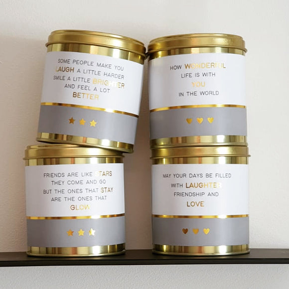 Lily loves - soy wax candle in tin